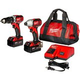 2697-22 M18 18-Volt 1/2-Inch 2-Tool Combo Kit Includes Charger, Battery (2) and Bag amazon review