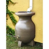 55-Gallon Sand-Stone-Look Rain Barrel amazon review