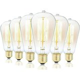 Dimmable Antique Style Vintage Edison Bulbs (60w 6-pack) amazon review
