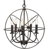Industrial Vintage Lighting Ceiling Chandelier, 5 Lights amazon review