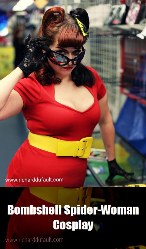 Bombshell Spider Woman Cosplay