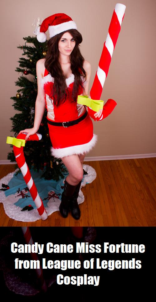 Candy Cane Miss Fortune From League Of Legends Cosplay