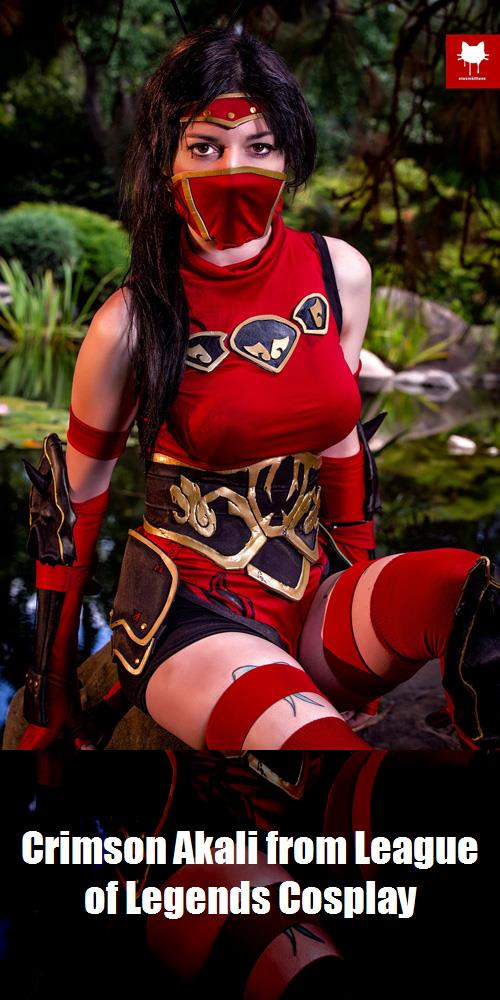 Crimson Akali From League Of Legends Cosplay 2