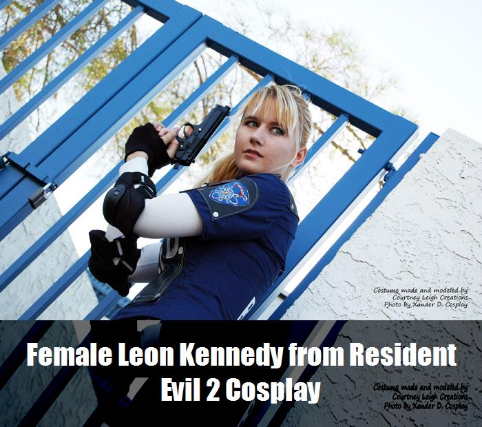 Female Leon Kennedy From Resident Evil 2 Cosplay