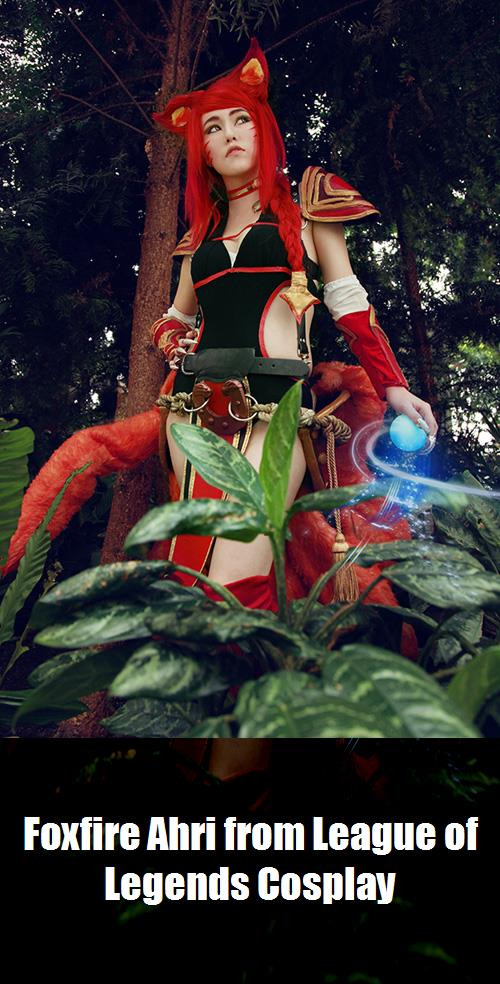Foxfire Ahri From League Of Legends Cosplay