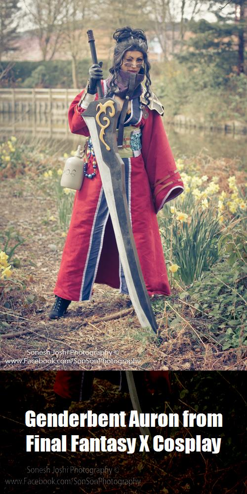 Genderbent Auron From Final Fantasy X Cosplay
