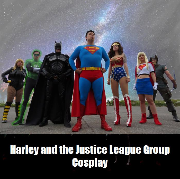 Harley And The Justice League Group Cosplay