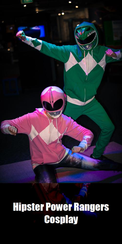 Hipster Power Rangers Cosplay