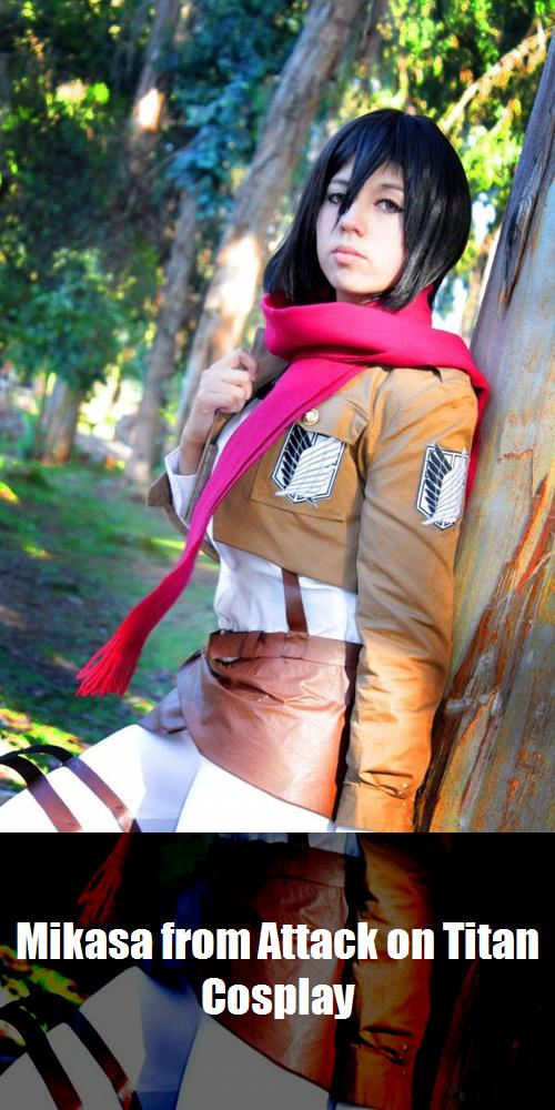Mikasa From Attack On Titan Cosplay 1