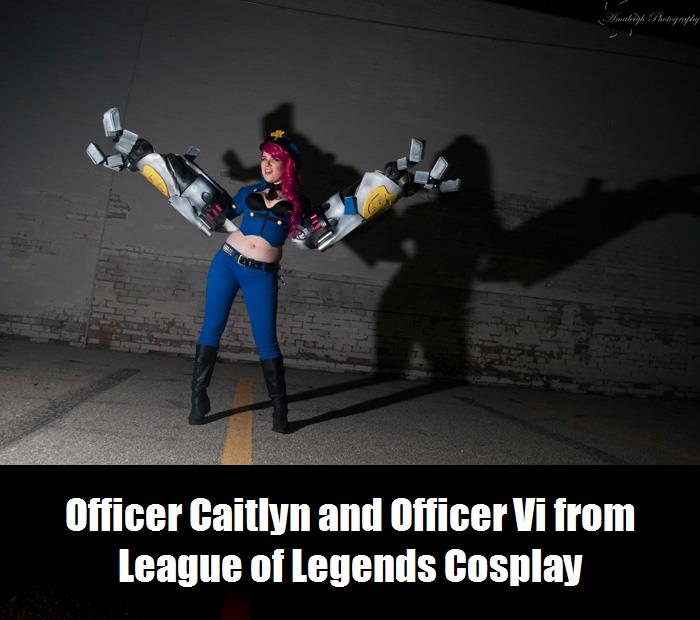 Officer Caitlyn And Officer Vi From League Of Legends Cosplay 3