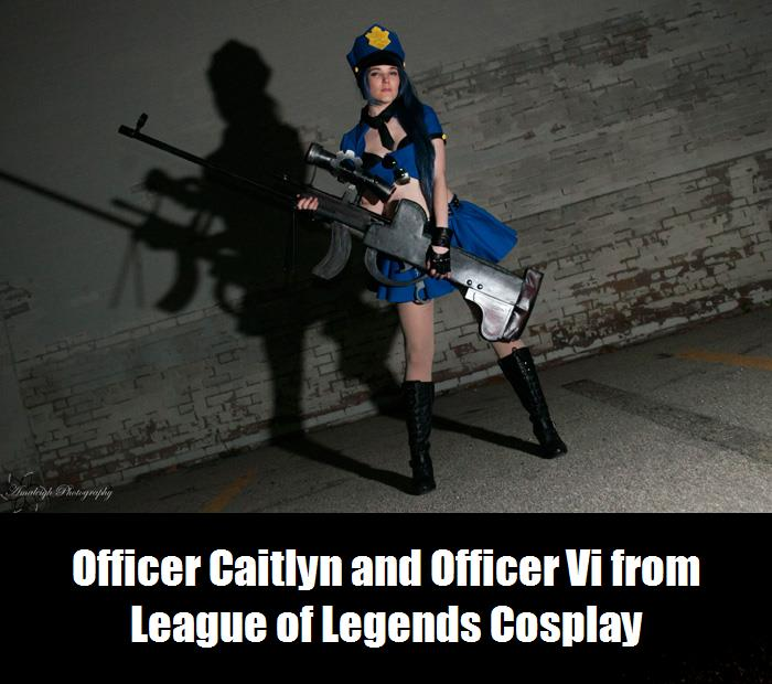 Officer Caitlyn And Officer Vi From League Of Legends Cosplay 4