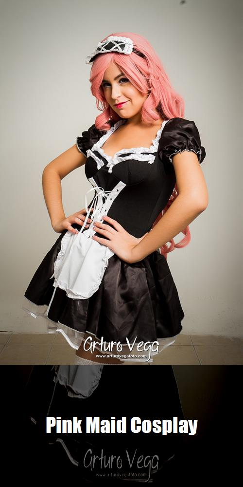 Pink Maid Cosplay