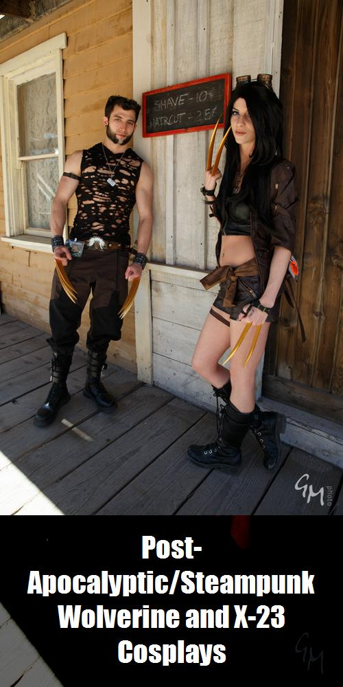 Post Apocalypticsteampunk Wolverine And X 23 Cosplays