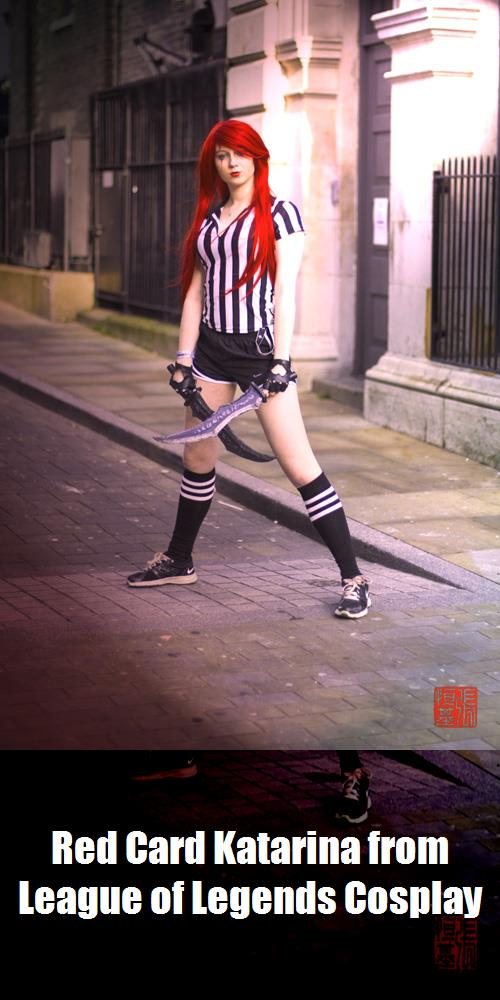Red Card Katarina From League Of Legends Cosplay