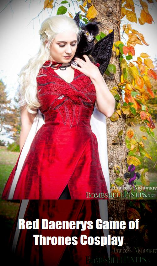 Red Daenerys Game Of Thrones Cosplay 10