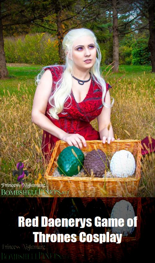 Red Daenerys Game Of Thrones Cosplay 11