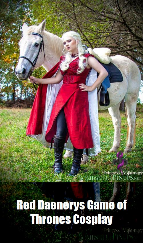 Red Daenerys Game Of Thrones Cosplay 2