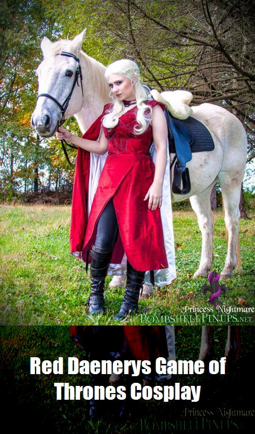 Red Daenerys Game Of Thrones Cosplay 3