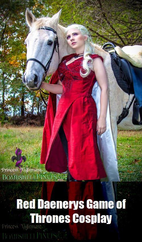 Red Daenerys Game Of Thrones Cosplay 4