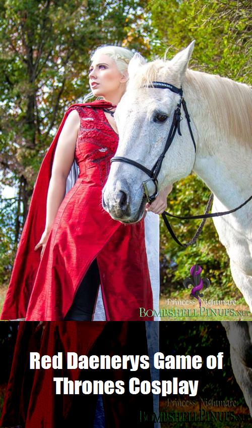 Red Daenerys Game Of Thrones Cosplay 5