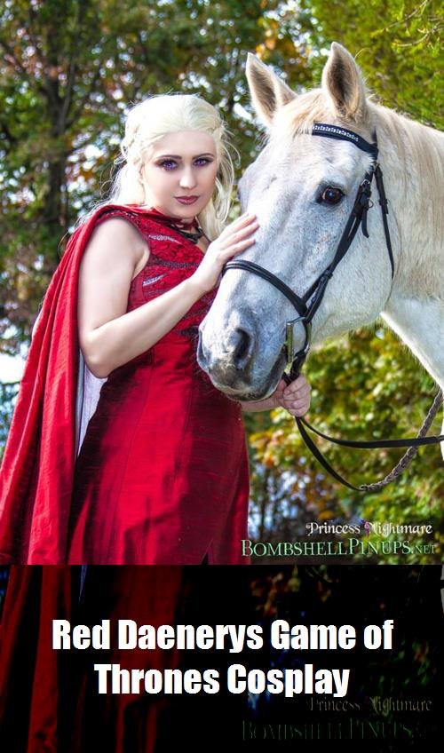 Red Daenerys Game Of Thrones Cosplay 6