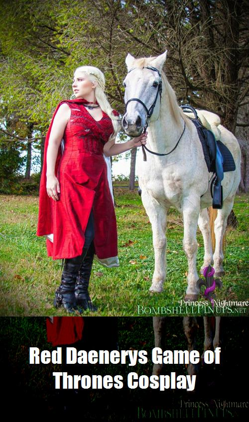Red Daenerys Game Of Thrones Cosplay 7