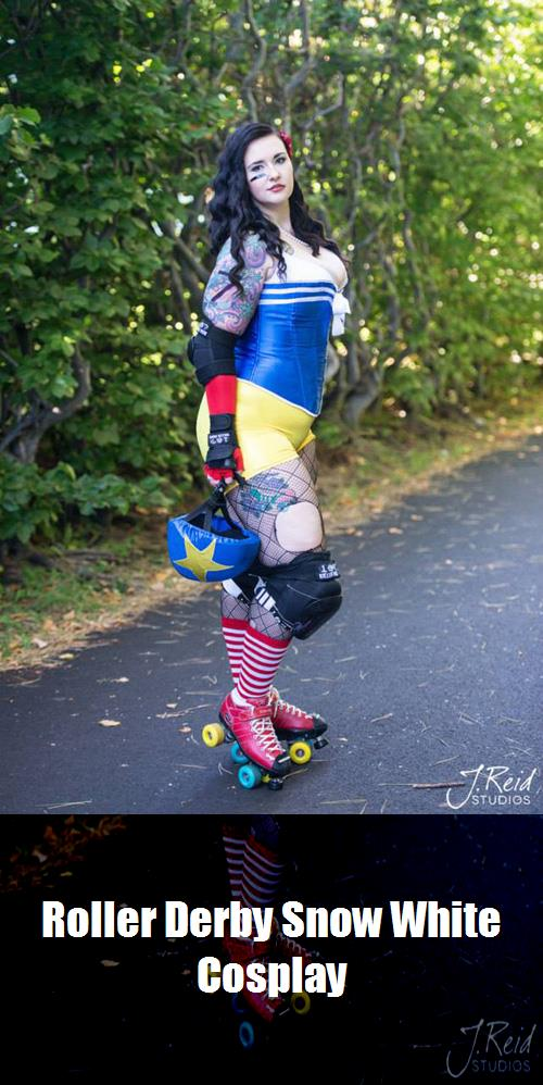 Roller Derby Snow White Cosplay 2