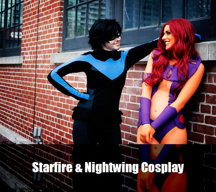 Starfire Nightwing Cosplay 1