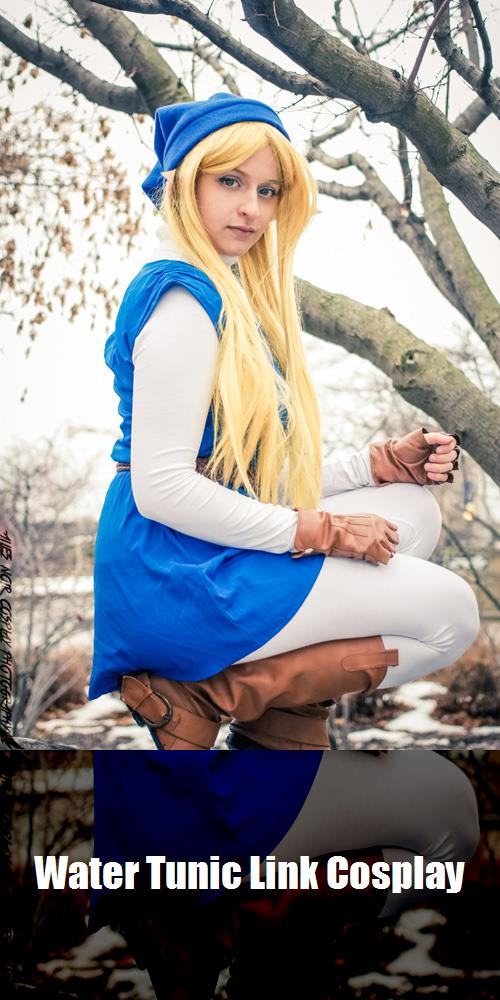 Water Tunic Link Cosplay 2