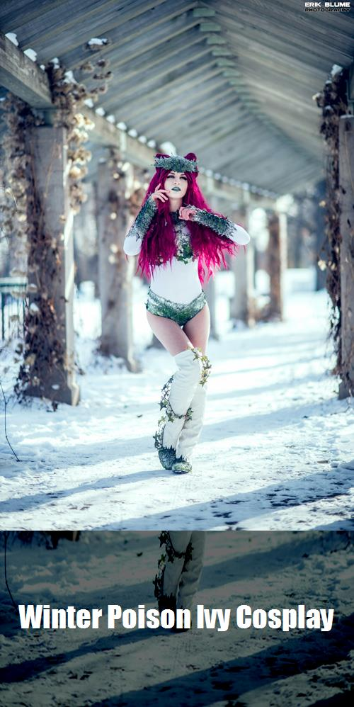 Winter Poison Ivy Cosplay 2