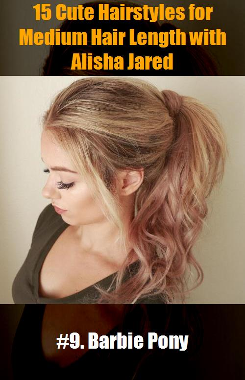 15 Cute Hairstyles For Medium Hair Length With Alisha Jared